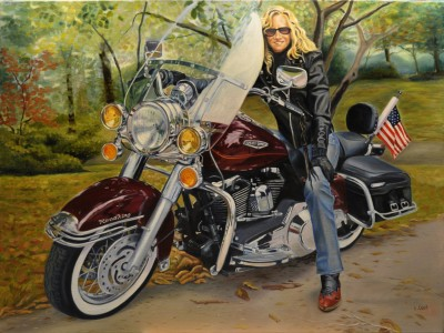 """Her First Bike"" by Chip Cecil"