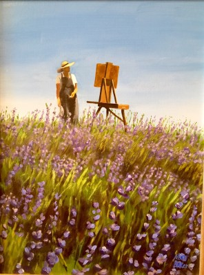 "Matthew Baker, ""Lavender and Pastels,"" 1st Place, Oils/Acrylics"