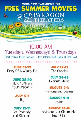 Free Summer Film Schedule
