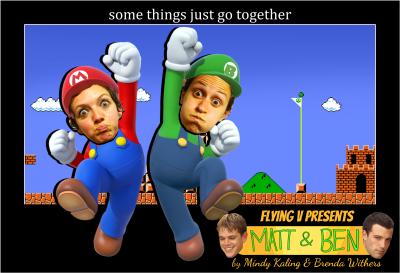 Matt & Ben Flying V Meme
