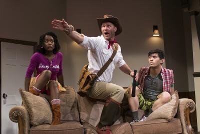 Billie Krishlawn as Judy, Elan Zafir as the Guide, and Ryan Carlo as Peter, Photo credit: Sarah Straub