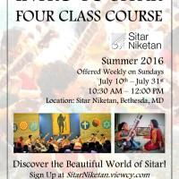 Intro to Sitar Summer Workshop 2016