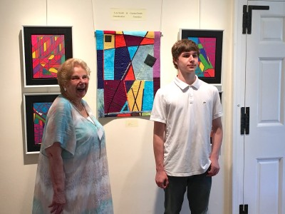 Lois Smith so appreciated her grandson Gunnar Smith's geometric art pieces that she was inspired to create a quilt using his ideas.