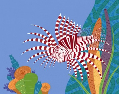 """Spiny Fish"" is from Stockdale's book ""Fabulous Fishes."""