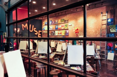 A view of Muse Paintbar