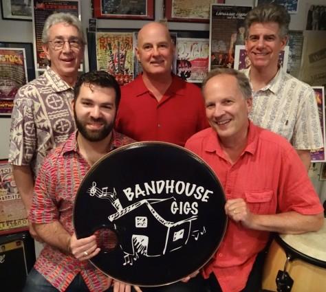 BandHouse Gigs producers, from left, David Sless, Danny Schwartz, Ron Newmyer, Chuck Sullivan and Greg Hardin