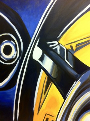 """""""Abstract III,"""" Acrylic on Canvas, by Carlos Garcia of Rockville"""