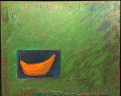 """Cantaloupe,"" Mixed Media, by Felisa Federman of North Potomac"