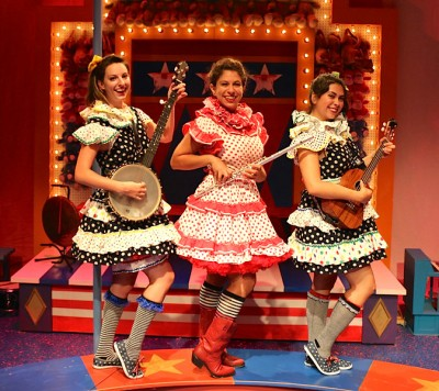 "Lauren Vogel, Dana Omar and Amanda Raquel Martinez are ""Three Little Girls from School"" from ""The Mikado."""