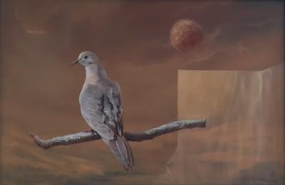"""Cosmic Dove,"" Oil on Canvas, Marco Cuba-Ricsi of Gaithersburg"