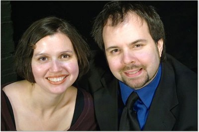 "Heavy metal couple: Melissa Baughman is the director and Andrew Lloyd Baughman, producing artistic director and actor, in ""The Mystery of Edwin Drood."""