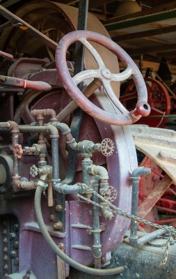 This image of a steam tractor taken at the Tuckahoe Steam and Gas Association in Easton, Md., part of the Federal Reserve Board's first Staff Art Show. It also made its way to China that year as part of a cultural exchange with the Central Bank of China.