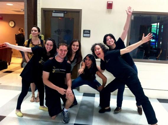 SSI From left, Pre-2016 Summer String interns Zoe Loversky, Talya Shenk, Joseph DeMartini, Sabrina Bradford, Preetcham Saund, Maestra Victoria Gau, and Stephanie Herdoiza.