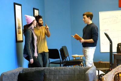 Artistic Director Matthew Nicola works through a rehearsal.