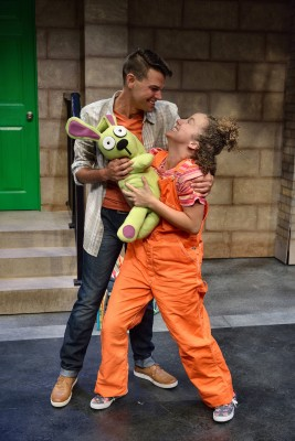 Reunited: It's time to rejoice for Trixie (Suzanne Lane) and her Dad (Scott Harrison) when Trixie's beloved Knuffle Bunny is back.