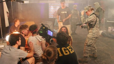 "From the set of ""Z*Con,"" a feature-length zombie movie, Justin Chiet was camera operator during the summer of 2013. Also pictured, Grip Aaron Sickman, Grip Devin McBay, Director of Photography Pawel Biel, 1st AC Mat MacIntyre, 2nd AC Kyle Deitz, 1st Assistant Director Brittany Warrington"