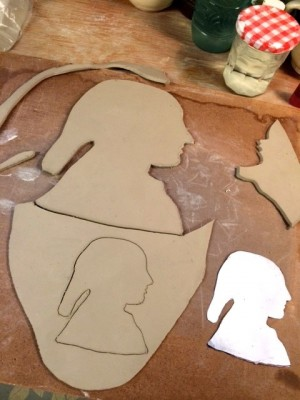 Silhouette plate work by Rikki Condon.