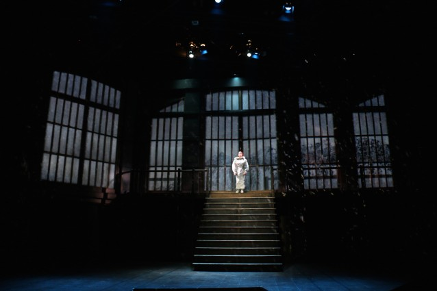 "Kimberly Gilbert (as Harper Pitt) in the Round House Theatre and Olney Theatre Center production of ""Angels in America Part I: Millennium Approaches."""