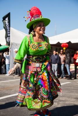 The Bolivian dance group Tinkus de San Simon USA.