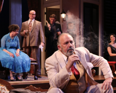 """Rick Foucheux as Big Daddy in Round House Theatre's""""Cat on a Hot Tin Roof"""" (2016)."""
