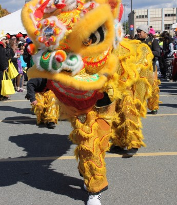 The Chinese Culture and Community Service Center's Dragon Dance Team took part in the Parade of Cultures.