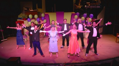 "The cast for ""Zombie Prom"" features Front Row (from left): Joshua Simon (Eddie Flagrante), Dallas Milholland (Delilah Strict), Julia Klavans (Toffee), and Will Hawkins (Jonny Warner); Back Row (from left): Stephanie Wilson (Ginger), Philip da Costa (Joey), Katie Culligan (Coco), Jordan Clark Halsey (Josh), RJ Pavel (Jake), and Kelsey Painter (Candy-hidden)."