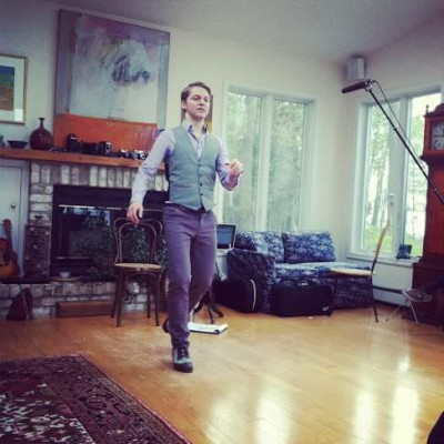Irish step dancer Nic Gareiss performs during a house concert in Maryland.