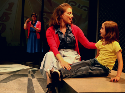 Michelle Mary Schaefer (Ensemble), Autumn Seavey Hicks (Mrs. Walker) and Kira Mitchiner (Tommy, age 4).