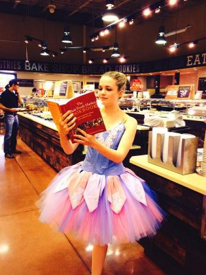 Metropolitan Ballet Theatre alumna Emily McKiernan at Whole Foods Kentlands in 2014.