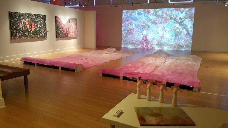 """Pink – A Cherry Blossom Fantasy,"" at VisArts in Rockville."