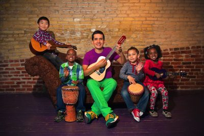 Andrés Salguero jams with his favorite audience.