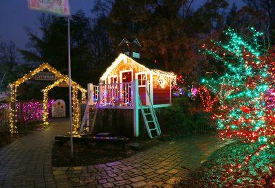 Garden of Lights at Brookside Gardens.