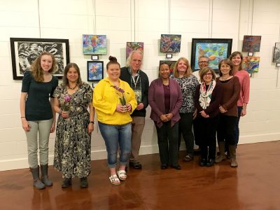 Studio Downstairs members held an art show at the Ratner Museum Carriage House.