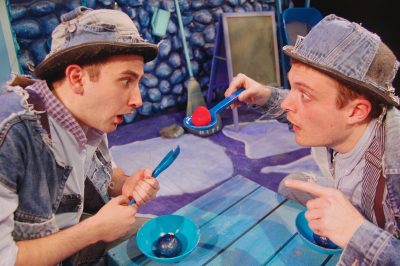 Inky (Noah Schaefer) and Pale (Jack Novak) live in a world that's entirely blue! Imagine their shock when they see something red!