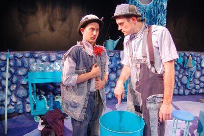 Pale (Jack Novak) demands that Inky (Noah Schaefer) throw away the red flower.