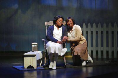 Mother-daughter bond transcendent: Nova Y. Payton (Caroline Thibodeaux) and Korinn Walfall (Emmie Thibodeaux).