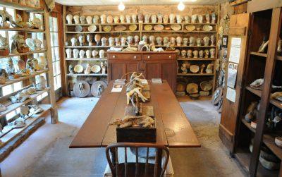 Inside Mary Bowron's studio.