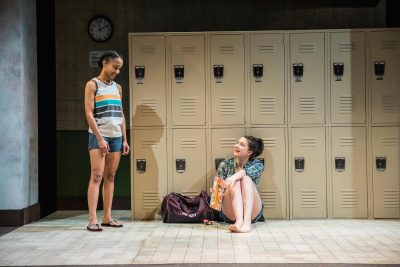 "From left, Yakima Rich (Ester) and Emily Whitworth (Amy) in ""Dry Land."""