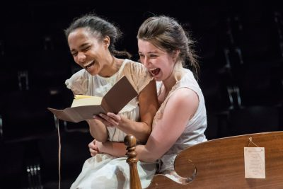 "From left, Yakima Rich (Lucy) and Emily Whitworth (Theresa) in ""What Every Girl Should Know."""