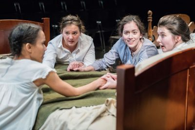 "From left, Yakima Rich (Lucy), Lida Maria Benson (Joan), Thais Menendez (Anne), Emily Whitworth (Theresa) in ""What Every Girl Should Know."""