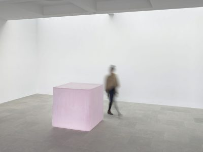 """Pink Tons"" (2008-2011), solid cast glass with as-cast surfaces, ©2017 Roni Horn"