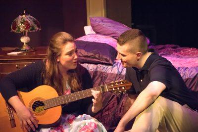 Megan Evans (Rose) and Eric Jones (Eddie Birdlace)