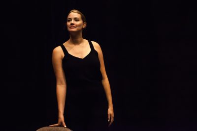 Kerry Ipema rehearses her performance of One Woman Sex in the City before her debut show at this year's Fringe Festival.