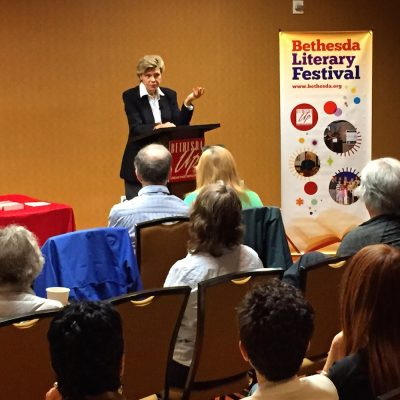 Cokie Roberts at the Bethesda Literary Festival in 2016.