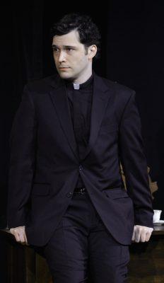 Father Flynn (Elliott Kashner) undergoes an interrogation at the hands of Sister Aloysius.