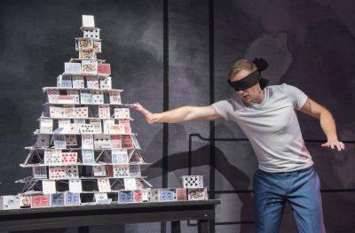 House of cards: Brett Schneider as The Magician.