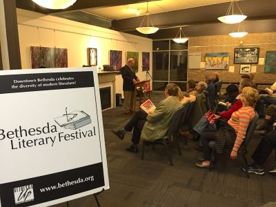A 2016 Bethesda Literary Festival event at The Writer's Center.