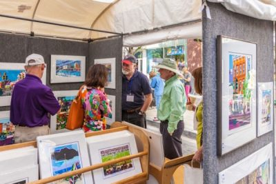 The view inside a booth from last year's A-RTS at Rockville Town Square Fine Art Festival.