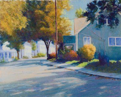 """""""Autumn in Burkittsville,"""" 16 x 20, pastel"""