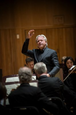 Markus Stenz conducting the Baltimore Symphony Orchestra.